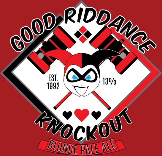 Harley Quinn's Good Riddance Knockout Blonde Pale Ale