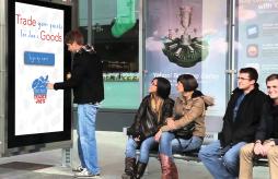 Trader Joe's Rewards Guerrilla Advetrisement Digital Sign Up